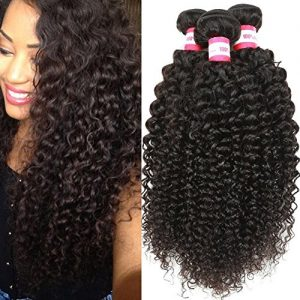 B&P Virgin Brazilian Curly Hair Weave 3 Bundles