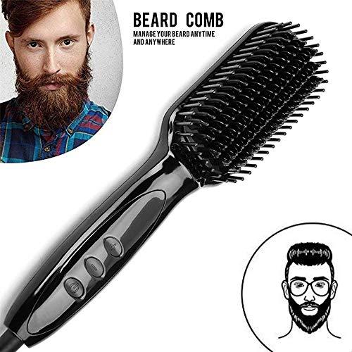 HUQUAN SHUZI Quick Hair Men's Beard Hair Straightener Beard Straight