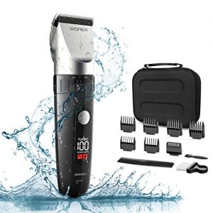 WONER Waterproof Cordless Hair Clippers for Men, Hair Trimmers
