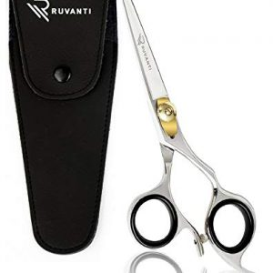 Ruvanti Professional Razor Blades Hair Scissors - Barber Hair Cutting Scissor