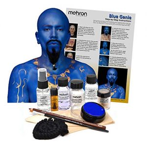 Mehron Blue Genie Costume Makeup Kit - Special Effects Face/Body Paint