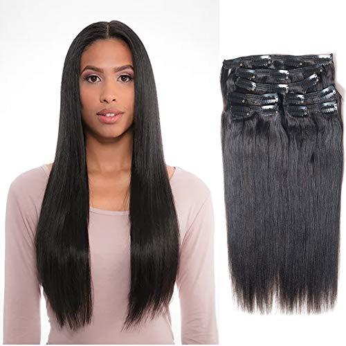 Vanalia 9A Perm Yaky hair extensions clip in human hair