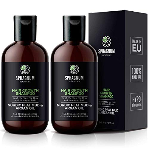 Argan Oil Shampoo 2 Pack - 16.9 oz Natural Hair Loss Treatment