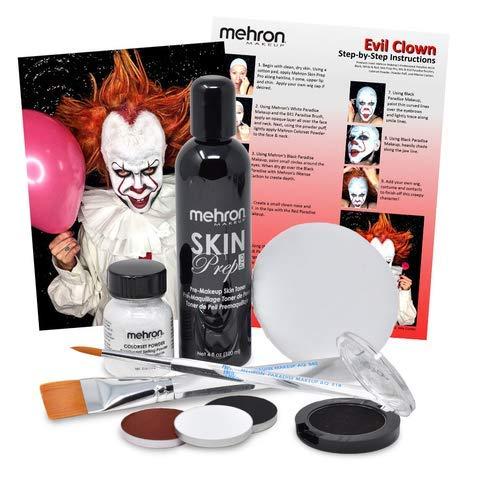Evil Clown Halloween Makeup Kit - Professional Costume Cosmetics