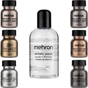 Mehron Makeup Shimmer Set (6 Metallic Powders)