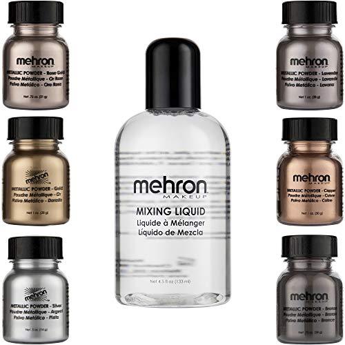 Mehron Makeup Shimmer Set (6 Metallic Powders)