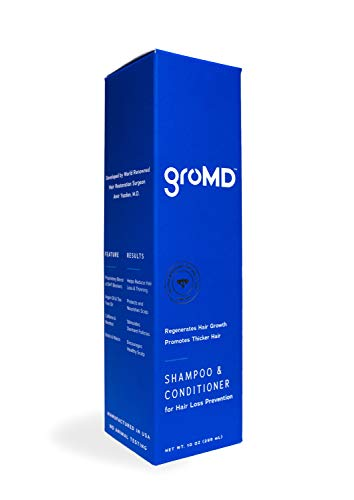 GroMD Doctor-Developed Hair Growth Stimulating Shampoo & Conditioner