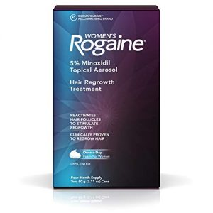 Women's Rogaine 5% Minoxidil Foam for Hair Thinning and Loss