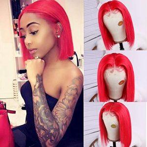 Short Lace Wigs 8inch Silky Straight Bob Wigs for Black Women