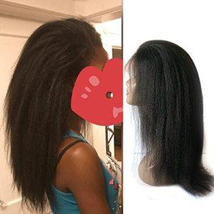 Enoya Hair Best Italian Yaki Lace Frontal Wig Pre Plucked Brazilian Remy