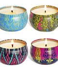 YIIA Fruity Scented Candles Gift Set, Natural Soy Wax Travel Tin Candle