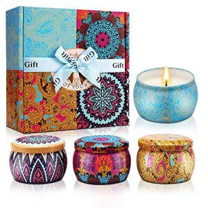 Y YUEGANG Scented Candles Gifts for Women, Natural Soy Wax