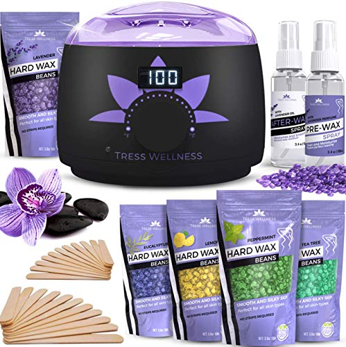 Home Waxing Kit Wax Warmer - 2019 Model (Digital Display) - 47 Accessories