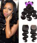 Miss CARA Body Wave 3 Bundles with Closure 100% Human Hair Bundles