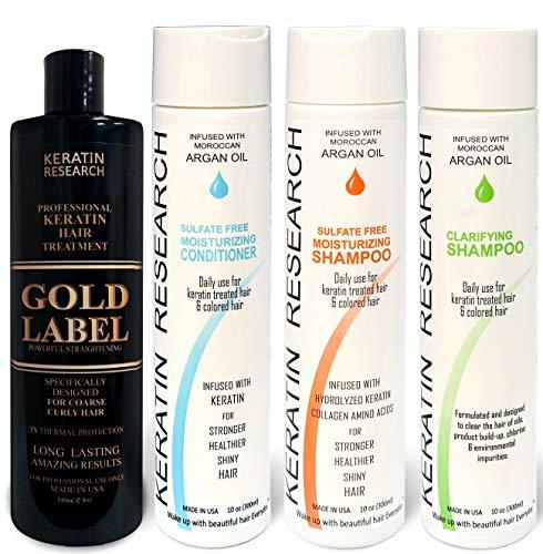 Gold Label Professional Brazilian Keratin Blowout Hair Treatment