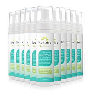 No Rinse Body Wash & Shampoo by Nurture | Hospital Grade Full Hair