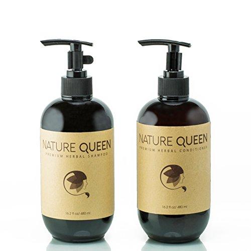 NATURE QUEEN Herbal Shampoo + Conditioner Set