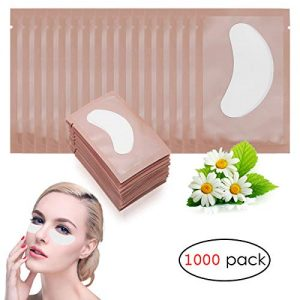 Adecco LLC 1000 Pairs Under Eye Pads Lint Free Lash Extension Eye Gel
