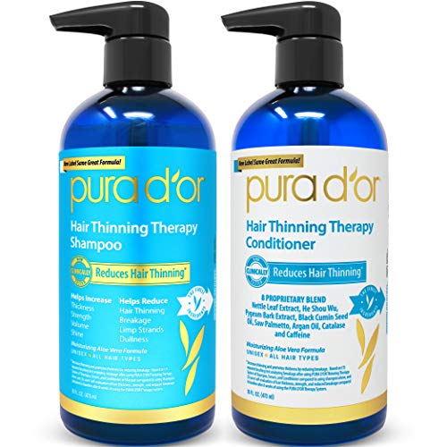 PURA D'OR Hair Thinning Therapy System - Biotin Shampoo & Conditioner Set