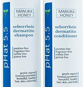 Sulfate Free Shampoo and Conditioner Set for Seborrheic Dermatitis Relief