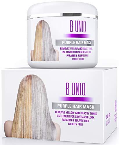 Purple Hair Mask For Blonde, Platinum & Silver Hair - Banish Yellow Hues