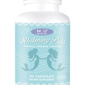 M.U Mermaid USA Whitening Pills for Skin 3 Times Effect of glutathione