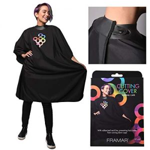 Framar Cutting Cover Haircut Cape - Hair Cutting Cape With Rubberized Neckline