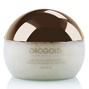 White Gold 24K Classic Body Scrub Exfoliator from OROGOLD Cosmetics