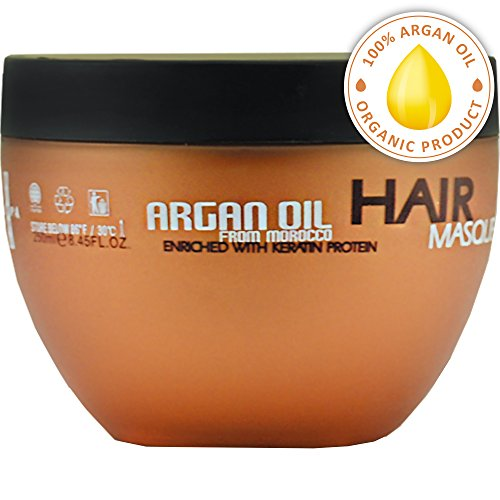 Argan Oil Hair Mask - Deep Conditioner Sulfate Free for Dry or Damaged Hair