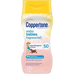 Coppertone Pure & Simple Baby SPF 50 Sunscreen Lotion, Tear Free
