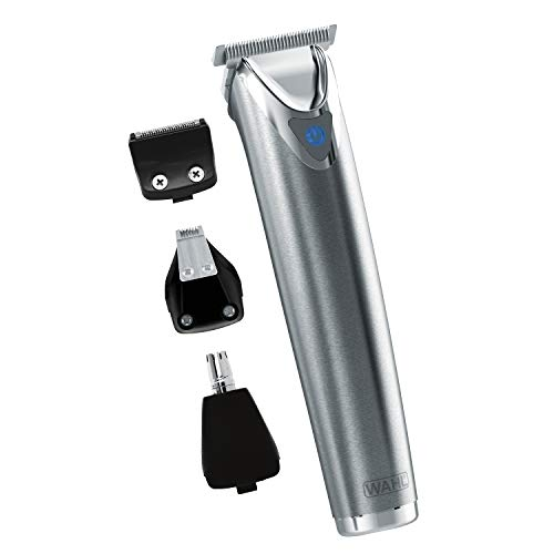 Wahl Stainless Steel Lithium Ion+ Beard Trimmer for Men, Hair Clippers
