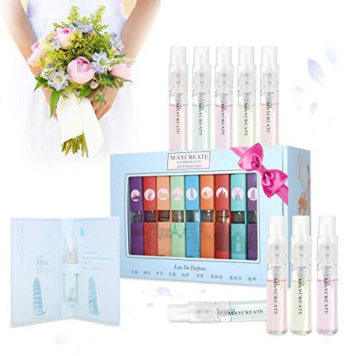 9 Pcs Mini Perfume Gift Set for Women, LuckyFine 9 Scent City Fragrances Kit