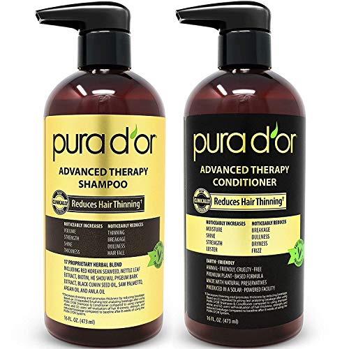 PURA D'OR Advanced Therapy System - Biotin Shampoo & Conditioner