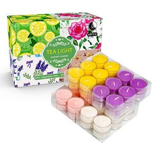 YMING Highly Scented Soy Tealight Candle Gift Set for Yoga