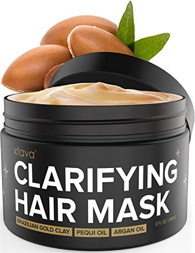 Xtava Clarifying Clay Hair Mask with Argan Oil - 8 Fl.Oz Hair Treatment