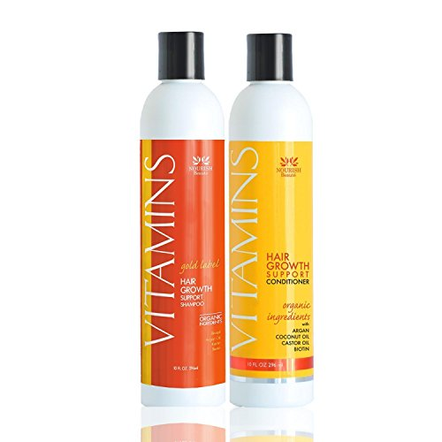 Nourish Beaute Vitamins Premium Shampoo and Conditioner