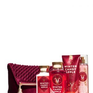 Bath and Body Works WINTER CANDY APPLE Holiday Traditions Cosmetic Bag