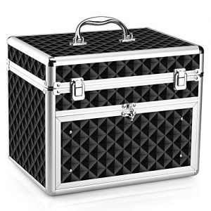 Makeup Case - Professional Portable Aluminum Cosmetic Storage Organizer