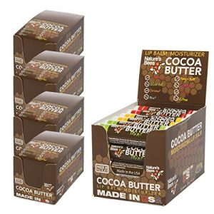 Nature's Bees (96 Count, 8 Flavors) Cocoa Butter Flavored Lip Balm Tubes Set