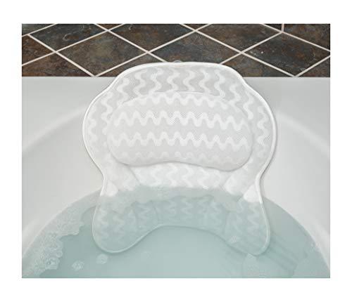 Luxurious Bath Pillow for Women & Men :: Ergonomic Bathtub Cushion for Neck