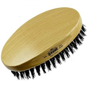 Kent MG2 Oval 100% Natural Beechwood Military Hair Brush