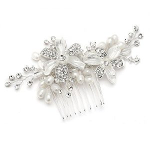 Mariell Bridal Hair Comb for Brides with Freshwater Pearl