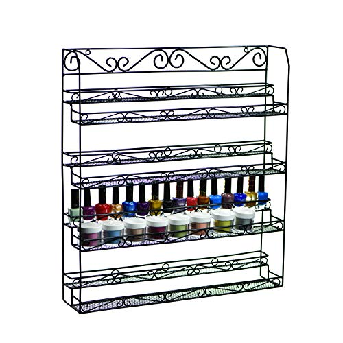 8 Tier Nail Polish Organizer, Holds 40 Jars + 60 Bottles, Essential Oil Organizer