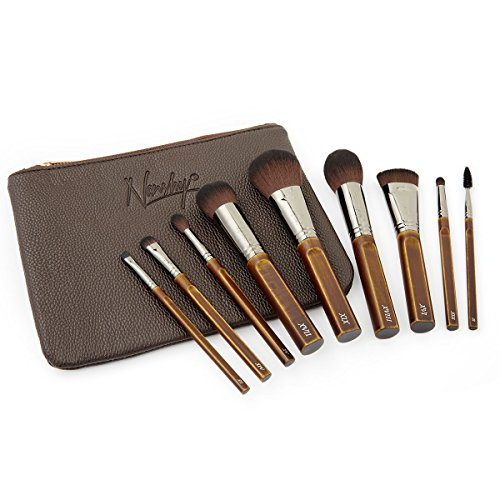 Nanshy Necessities Collection Makeup Brush Set with Bag High End Luxury