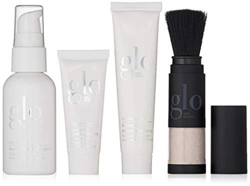 Glo Skin Beauty 4-Piece Travel Skincare Set for Treating Sensitive Skin