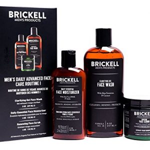 Brickell Men's Daily Advanced Face Care Routine I, Gel Facial Cleanser Wash