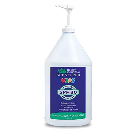 Kids, Gallon, SPF 30 - Rocky Mountain Sunscreen Lotion Bulk