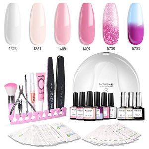 Modelones Gel Nail Polish Kit with UV Light - 4 Pink Colors