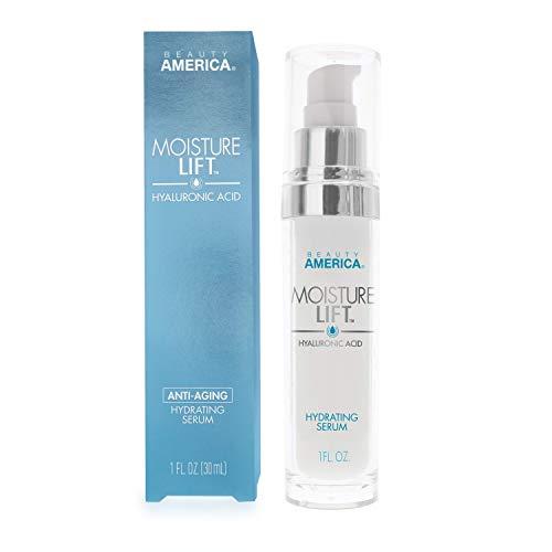 Beauty America Moisture Lift, Anti-Aging, Hyaluronic Acid, Hydrating Serum