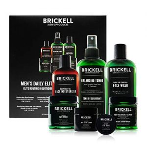 Brickell Men's Daily Elite Face Care Routine II, Toner, Charcoal Facial Wash